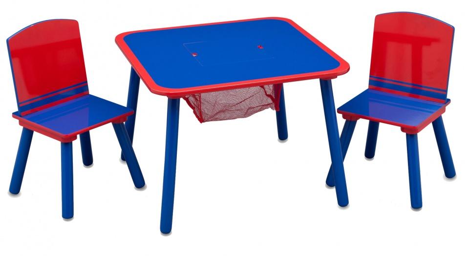 Rood Blauwe Stoel : Delta kids tafel met stoelen hout rood blauw giga bikes tilburg