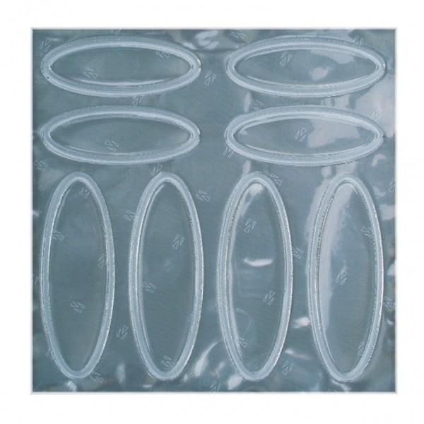 Afbeelding van 4 Act Helmstickers Ovaal Wit Reflecterend 10 X 10 cm