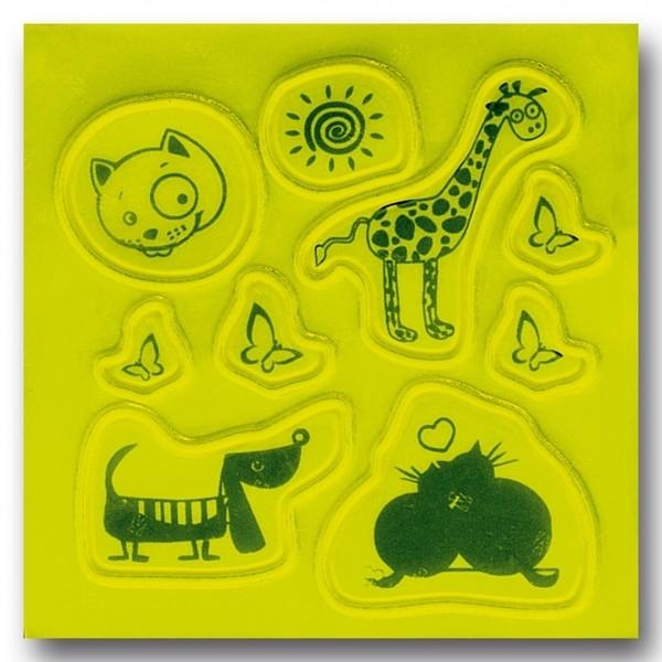 Afbeelding van 4 Act Reflecterende Stickers Dieren 10 X 10 cm Geel