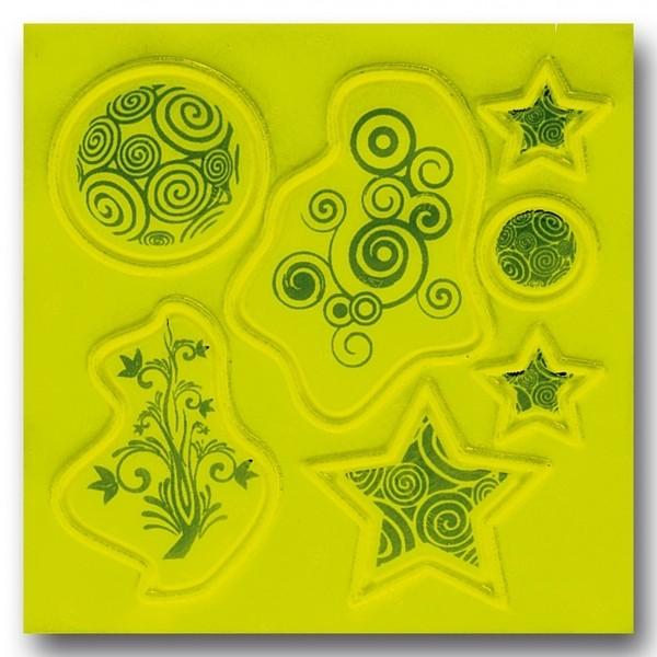 Afbeelding van 4 Act Reflecterende Stickers Ornamenten 10 X 10 cm Geel