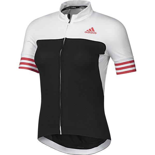 adidas Fietsshirt Adistar SS korte mouw dames zwart-wit mt XXS