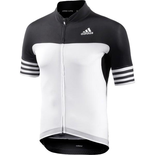 adidas fietsshirt Adistar SS heren zwart-wit maat XS