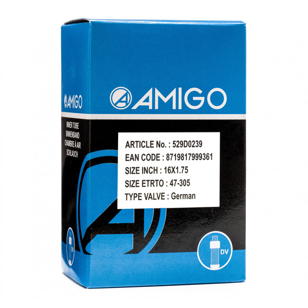 Afbeelding van AMIGO Binnenband 16 x 1.75 (47 305) DV 45 mm