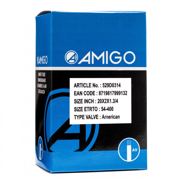 Afbeelding van AMIGO Binnenband 20 x 2 x 1 3/4 (54 400) AV 48 mm