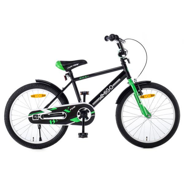 Afbeelding van AMIGO BMX Fun 20 Inch 31 cm Jongens Terugtraprem Zwart/Groen
