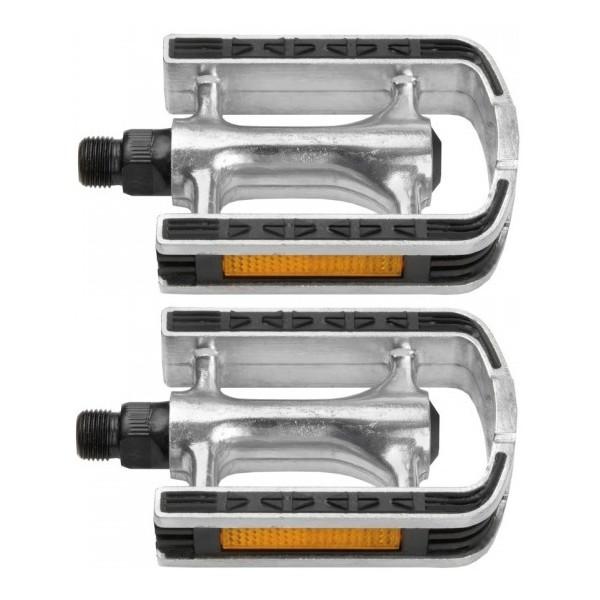 Buchel pedalen set 9/16 inch stadsfiets zilver