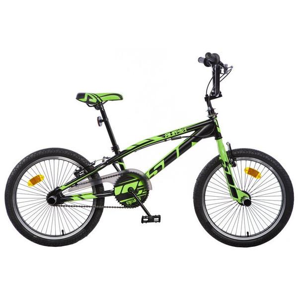 Aurelia BMX fiets 20 Inch 47 cm Unisex V Brake Zwart/Groen