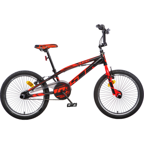Aurelia BMX fiets 20 Inch 47 cm Unisex V Brake Zwart/Rood
