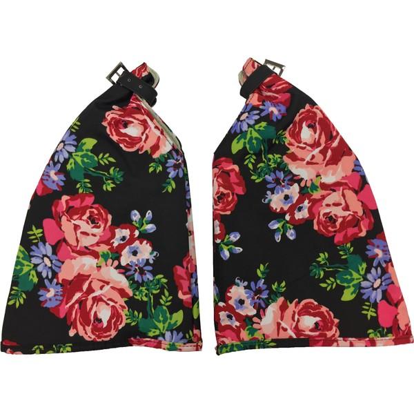 Basil Blossom Roses Handwarmers Zwart