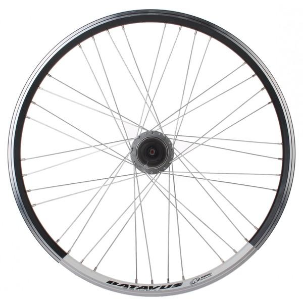 Batavus achterwiel 24 inch rollerbrake staal 36G zwart-wit