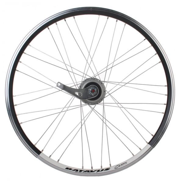 Batavus achterwiel 24 inch terugtraprem 36G staal zwart-wit