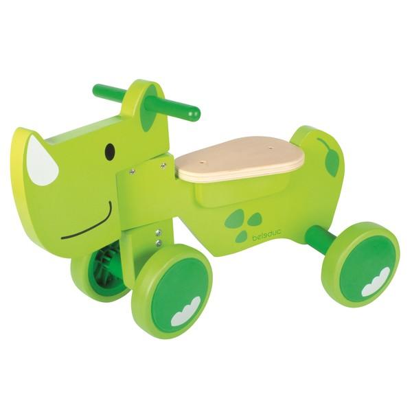 Afbeelding van beleduc houten loopfiets Speedy Rhino Junior Groen