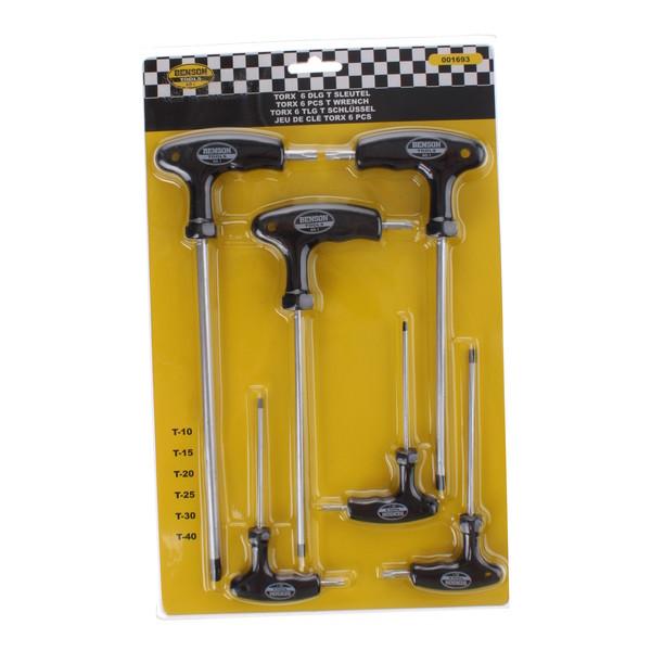 Afbeelding van Best Buy torxset T10 T15 T20 T25 T30 T40 zwart/zilver 6 delig