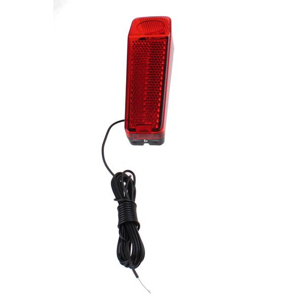 Afbeelding van Bicycle Gear achterlicht dynamo met snoer rood