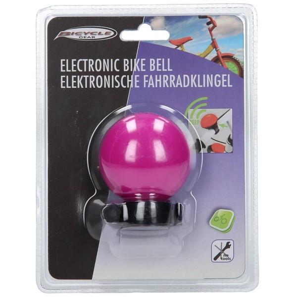 Afbeelding van Bicycle Gear Elektrische Fietsbel roze 5 x 5 x 3.5 cm
