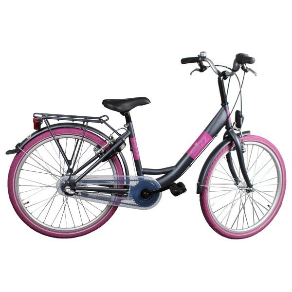 Afbeelding van Bike Fun Blizz 24 Inch 39 cm Meisjes 3V V Brake Matgrijs