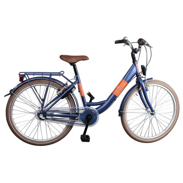 Afbeelding van Bike Fun Blizz 26 Inch 43 cm Meisjes 3V V Brake Matblauw