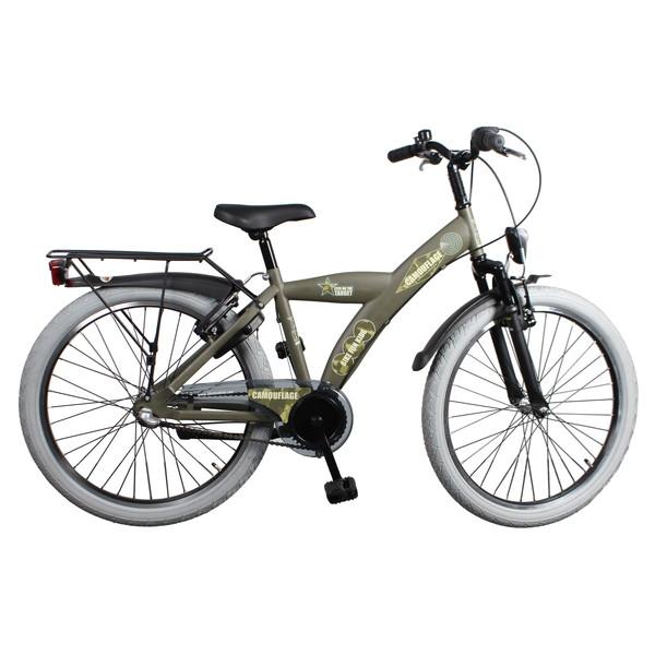 Afbeelding van Bike Fun Camouflage 24 Inch 39 cm Jongens 3V Terugtraprem Legergroen
