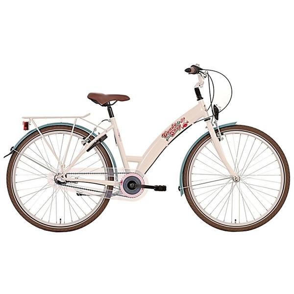Afbeelding van Bike Fun Candy Shop 24 Inch 38 cm Meisjes 3V Terugtraprem Beige