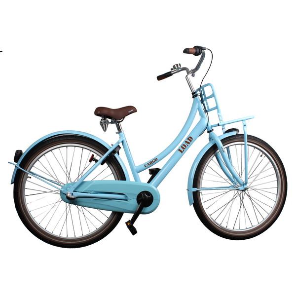 Afbeelding van Bike Fun Cargo Load 24 Inch 39 cm Meisjes 3V Terugtraprem Blauw