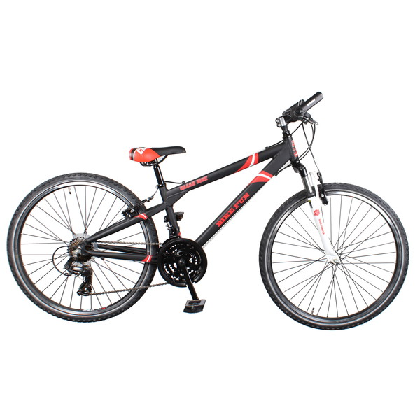 Afbeelding van Bike Fun Crash 24 Inch 34 cm Jongens 21V V Brake Zwart