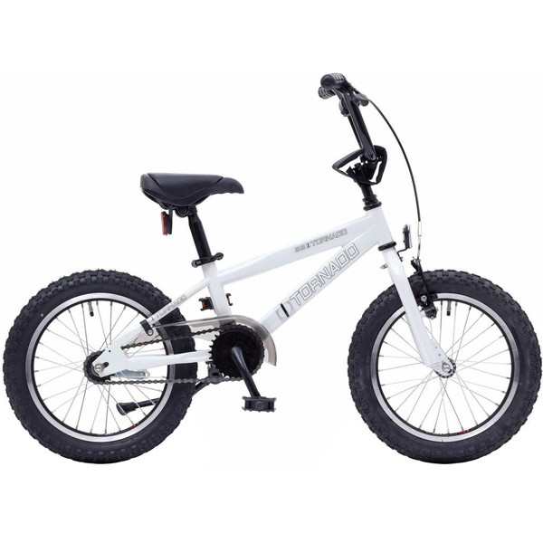 Afbeelding van Bike Fun Cross Tornado 16 Inch 34 cm Junior Terugtraprem Wit