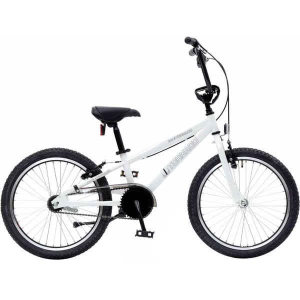 Bike Fun Cross Tornado 20 Inch 40 cm Junior Terugtraprem Wit