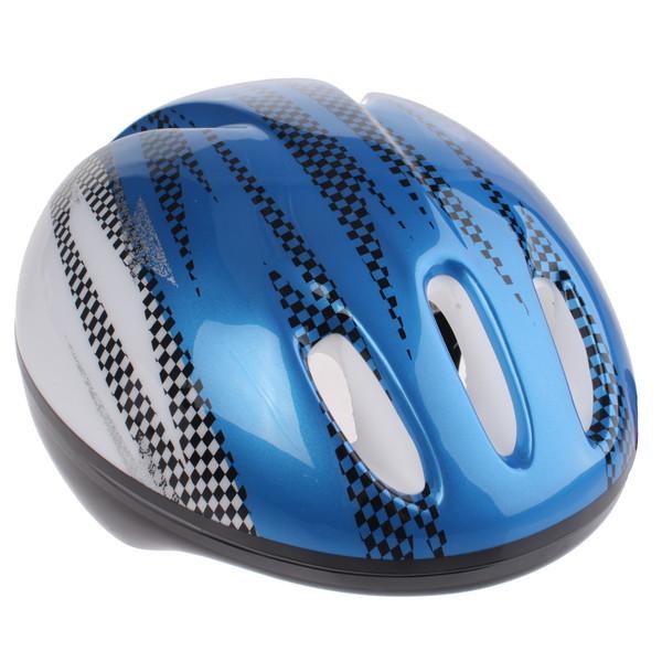 Bike Fun kinderhelm junior blauw/wit maat 50/54 cm thumbnail