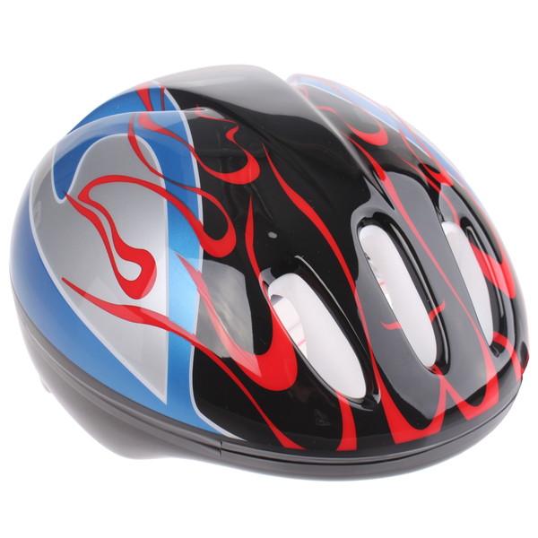 Bike Fun kinderhelm junior zwart/blauw maat 50/54 cm thumbnail