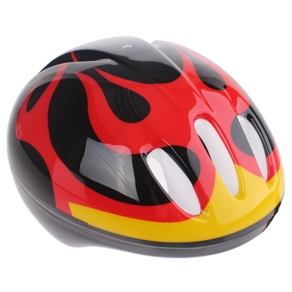 Bike Fun kinderhelm junior zwart/rood maat 50/54 cm thumbnail