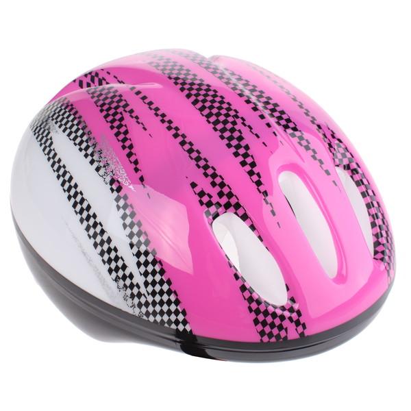 Bike Fun kinderhelm meisjes roze/wit maat 50/54 cm thumbnail
