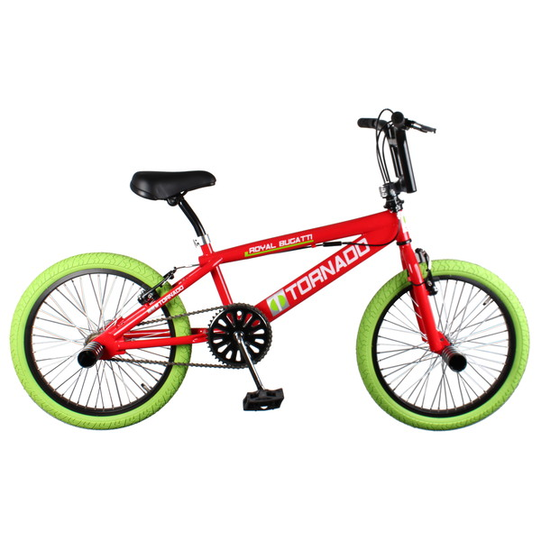 Bike Fun Tornado 20 Inch 55 cm Junior V Brake Rood/Groen