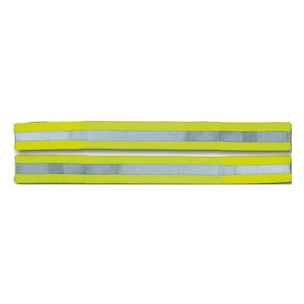 Afbeelding van 4 Act Arm/Pols Band Reflecterend Neongeel 40cm