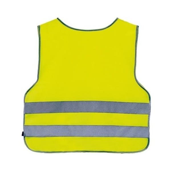 4 Act Veiligheidshemd 2 Strepen Junior Geel Maat XL