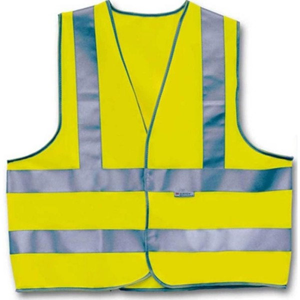 4 Act Veiligheidshesje 3 Strepen Unisex Geel Maat M