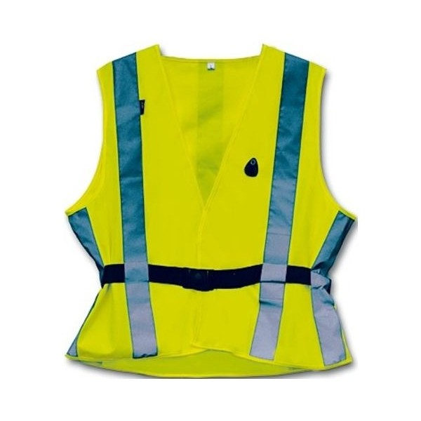 4 Act Veiligheidshesje 7 Strepen Unisex Geel Maat M
