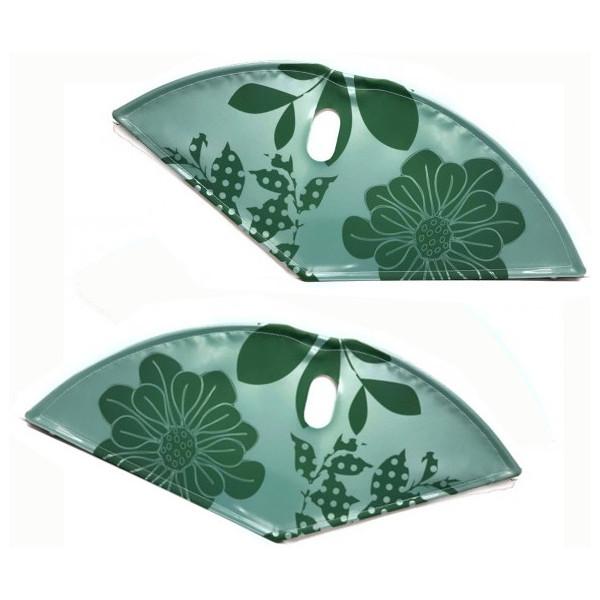 Afbeelding van BLS jasbeschermerset lakdoek 28 inch 57 cm bloemen groen