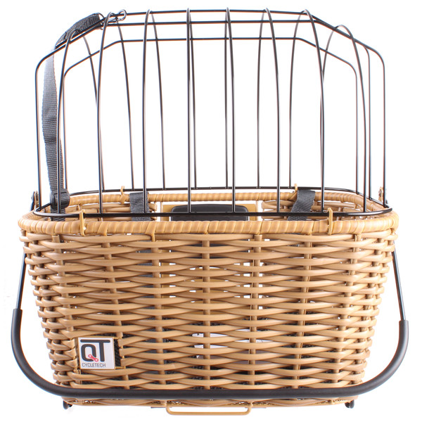 Cycle Tech hondenmand Ravenna voor/achter 24 liter bruin