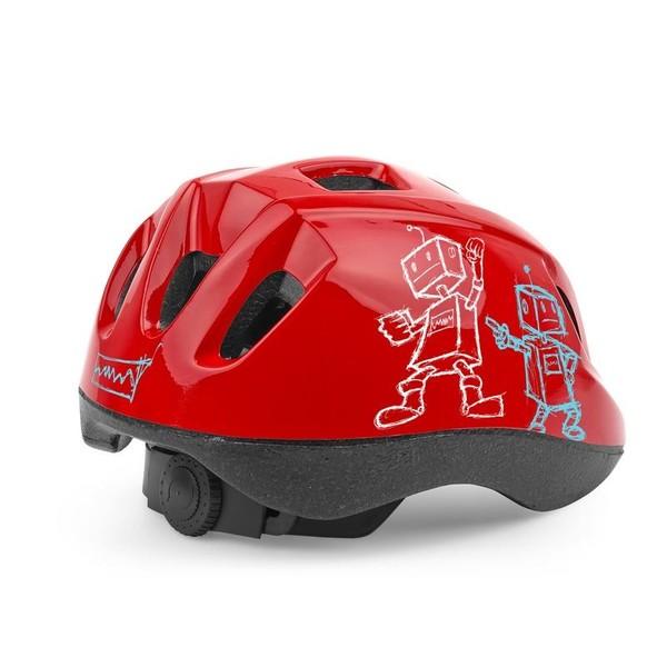 Cycle Tech kinderhelm Robot rood maat 52 56 cm