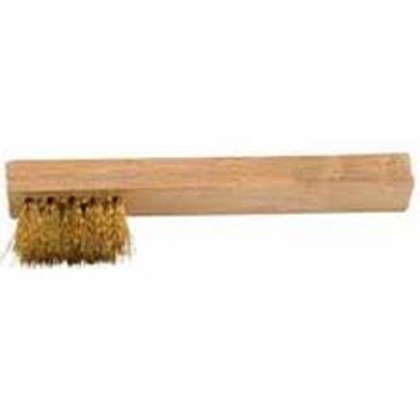 Cyclus bougieborstel hout/staal 10 cm blank/goud