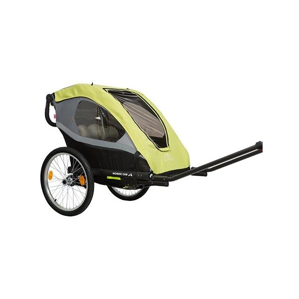 Nordic Cab Active 2 in 1 fietstrailer 20 Inch Junior Geel thumbnail