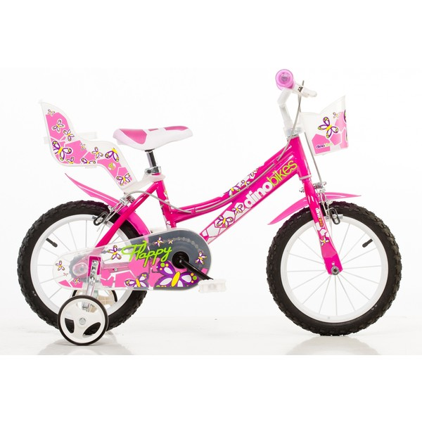 Dino 146R 14 Inch 24 cm Meisjes Knijprem Roze