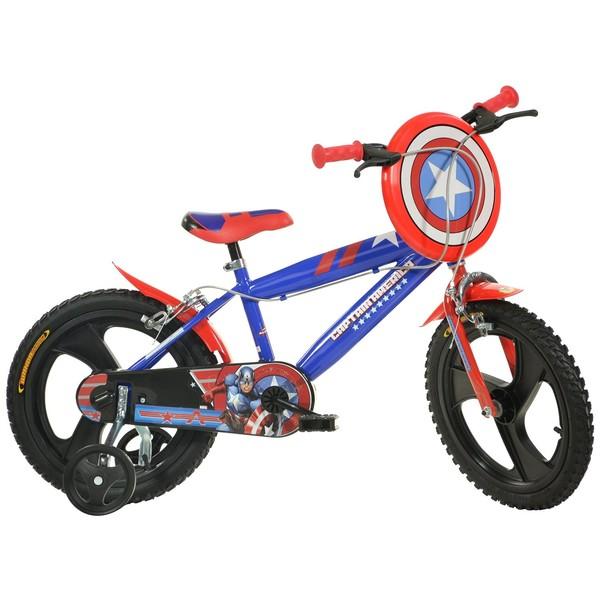 Dino 414UL CA Captain America 14 Inch 24 cm Jongens V Brake Blauw