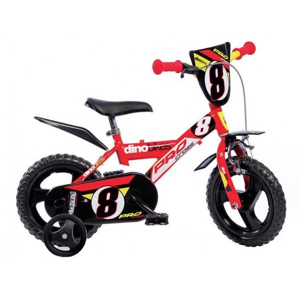 Dino kinderfiets voor jongen, 12 inch, 1 versnelling, »Sporty«
