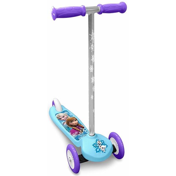 Disney Frozen 3 wiel kinderstep Meisjes Voetrem Blauw/Paars