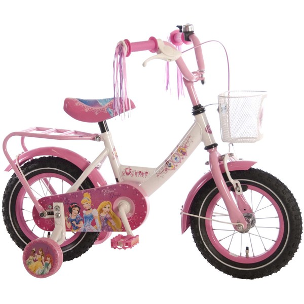Disney Princess fiets 12 inch wit-roze