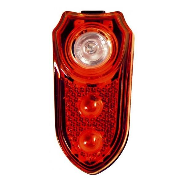 3-LED Fietslamp achterzijde (Duracell)