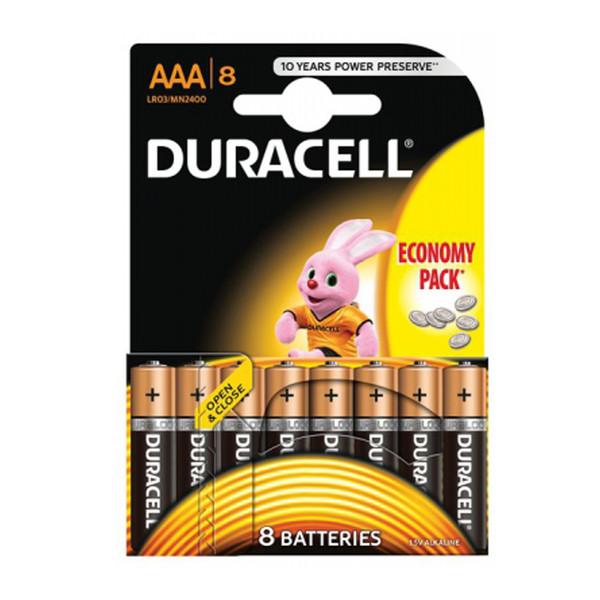 Duracell batterijen LR3 AAA 8 stuks