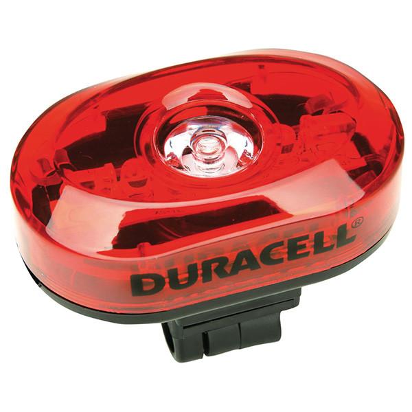 Duracell LED fietslamp (achterzijde) met batterijen