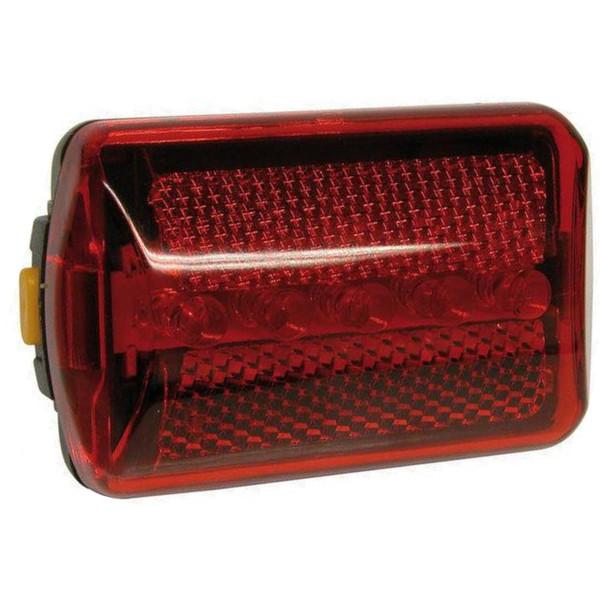 Dyto achterlicht led batterijen 7 x 4,5 cm rood